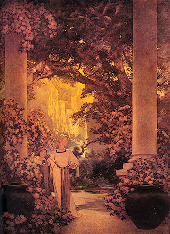 Land of make­believe by Maxfield Parrish