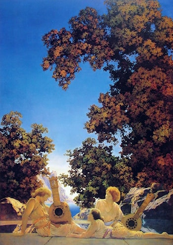 Interlude by Maxfield Parrish