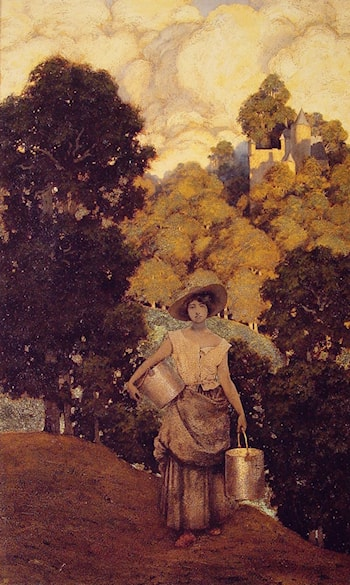 Milkmaid by Maxfield Parrish
