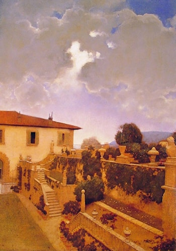 Villa Gamberaia Settignano by Maxfield Parrish