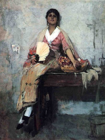 Flower Girl by Frank Duveneck