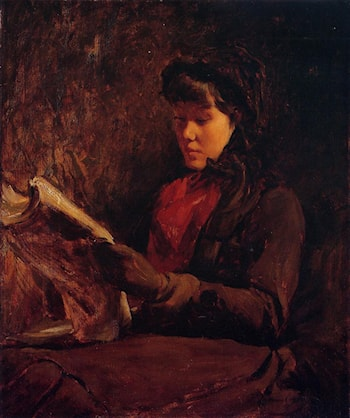 Girl Reading by Frank Duveneck