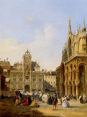 A View Of St Mark's Square by Edward Pritchett