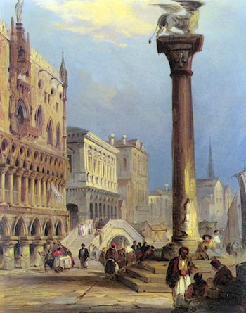 St. Marks and the Doges Palace, Venice by Edward Pritchett