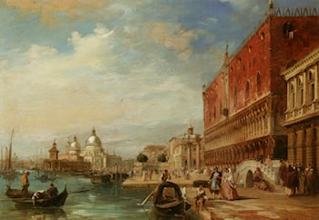 Santa Maria Della Salute from the Dodges Palace Venice by Edward Pritchett