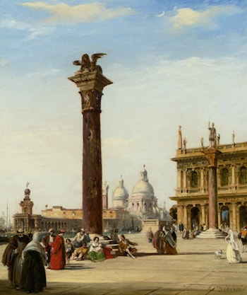 Piazza San Marco Venice by Edward Pritchett