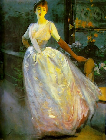 Portrait of Madame Roger Jourdain by Paul Albert Besnard