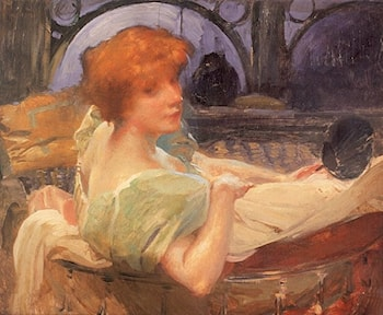 Portrait de Mme Georges Rodenbach by Paul Albert Besnard