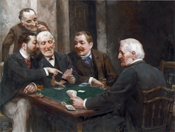 The Card Players by Ulpiano Checa y Sanz