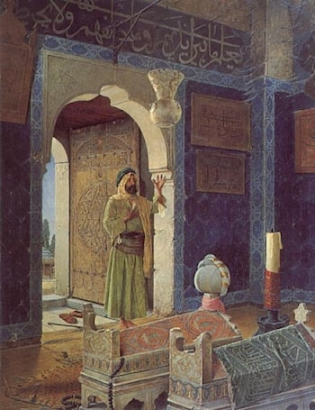 Old Man before Children's Tombs by Osman Hamdy-Bey