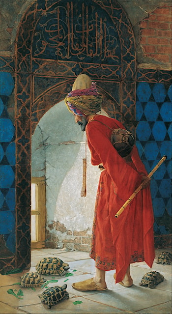 The Tortoise Trainer by Osman Hamdy-Bey