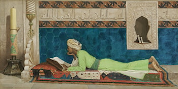 A Young Emir Studying by Osman Hamdy-Bey