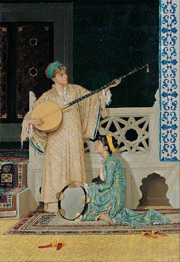 Two Musician Girls by Osman Hamdy-Bey