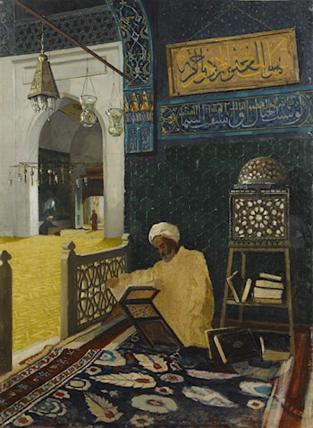 Reciting the Quran (Kur'an Tilaveti) by Osman Hamdy-Bey