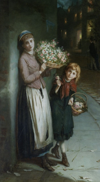 Flower Girls by Augustus Edwin Mulready