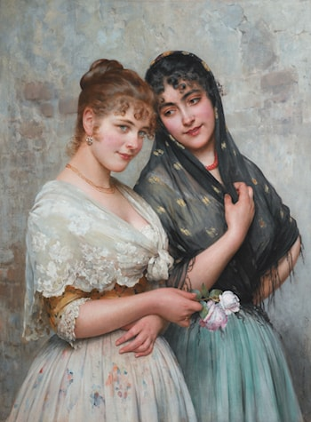 Two Venetian Women by Eugene de Blaas