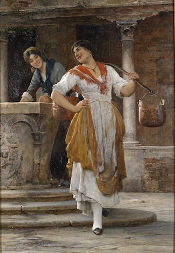 Meeting in the Square by Eugene de Blaas