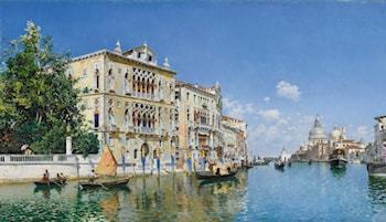 A view of the grand canal with the Palazzo Cavalli Franchetti by Federico Del Campo