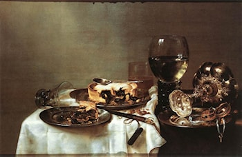 Breakfast Table with Blackberry Pie by Willem Claesz Heda