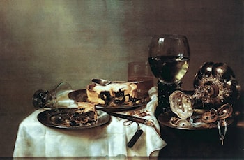Breakfast with Blackberry Pie by Willem Claesz Heda