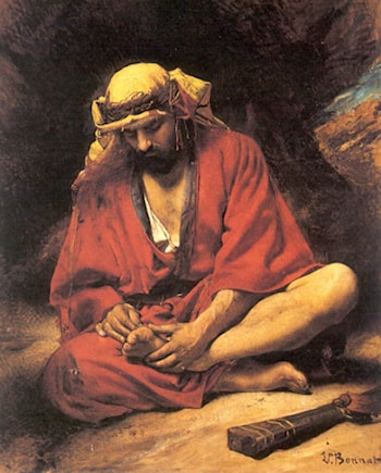 An Arab removing a thorn from his foot by Leon Bonnat