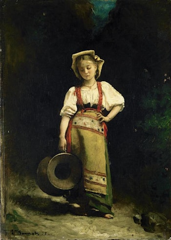 Italian Girl with a Jug by Leon Bonnat