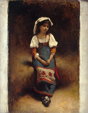 Italian Woman by Leon Bonnat