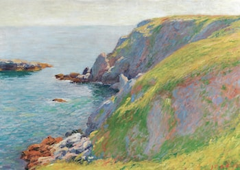 View of a Southern Coast by Jean-Francis Auburtin