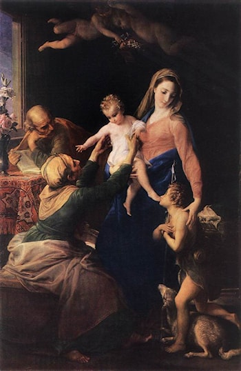 Holy Family by Pompeo Batoni