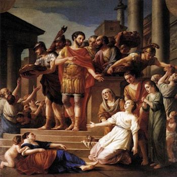 Marcus Aurelius Distributing Bread to the People by Joseph-Marie Vien