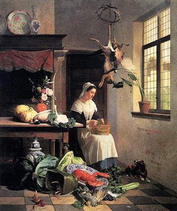A Maid In The Kitchen by David Emile Joseph de Noter