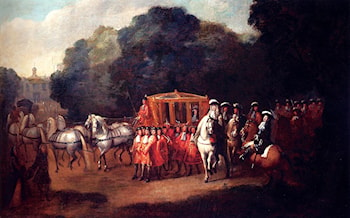 William III's Procession To The Houses Of Parliament by Alexander Van Gaelen