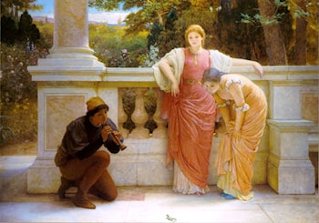 The Lizard Charmer by Charles Edward Perugini