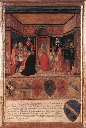 Pope Pius II Names Cardinal His Nephew by Francesco Di Giorgio Martini