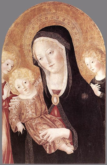 Madonna and Child with Two Angels by Francesco Di Giorgio Martini