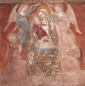 Madonna and Child with Angels by Francesco Di Giorgio Martini