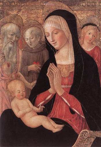 Madonna and Child with Saints and Angels by Francesco Di Giorgio Martini