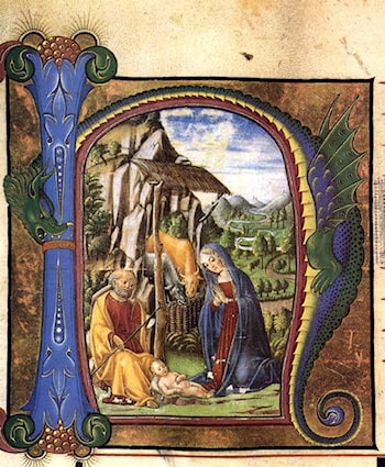 Nativity (in an Antiphonary) by Francesco Di Giorgio Martini