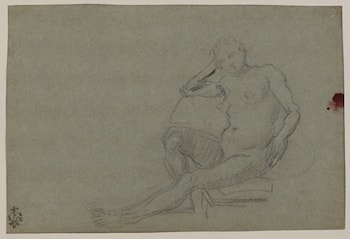 Seated Female Nude by Domenico Tintoretto