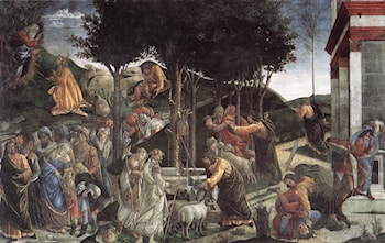 Scenes from the Life of Moses by Sandro Botticelli