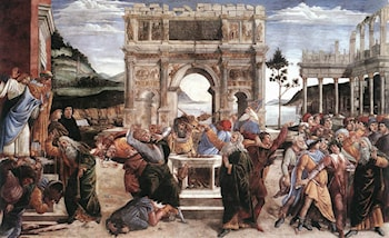 The Punishment of Korah by Sandro Botticelli