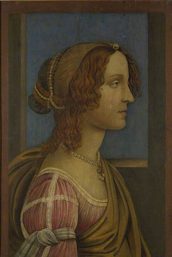 A Lady in Profile by Sandro Botticelli