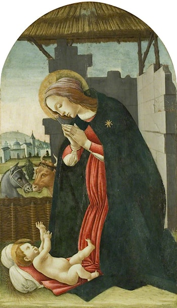 The Madonna Adoring the Infant Christ by Sandro Botticelli
