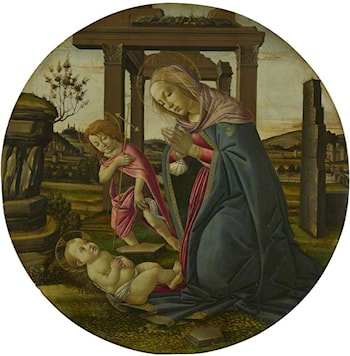 The Virgin and Child with Saint John the Baptist by Sandro Botticelli