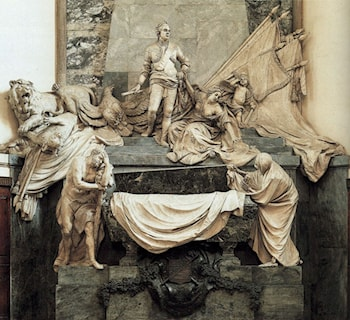 Mausoleum of the Maréchal de Saxe by Jean-Baptiste Pigalle