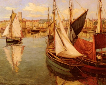 Dans Le Port De La Rochelle by Georges Charpentier