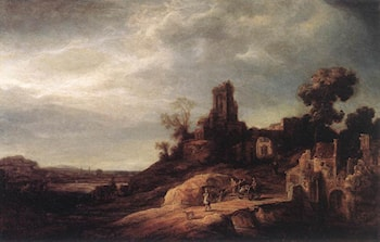 Landscape by Govert Teunisz Flinck