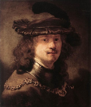 Portrait of Rembrandt by Govert Teunisz Flinck