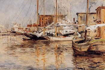 Oyster Boats, North River by John Twachtman