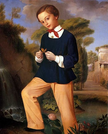 Portrait of a Boy from a Lombard noble family by Carlo Zatti